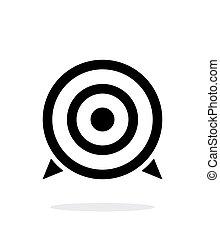背景。, 白色, 目标, 图标