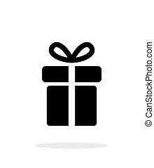 背景。, 白色, 礼物, 图标