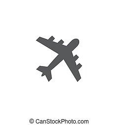 背景, 白色, 飞机, 图标
