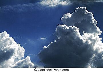 背景, ......的, 天空