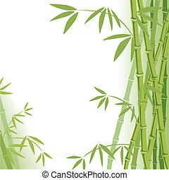 背景, 竹