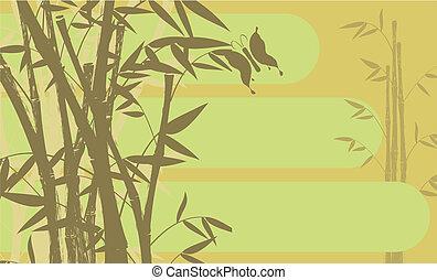 背景, 竹, 01