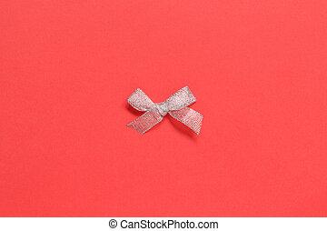 背景, 紅的弓, 聖誕節, 銀
