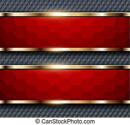 背景, 紅色, 六邊形