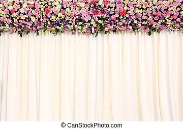 背景, 結婚式