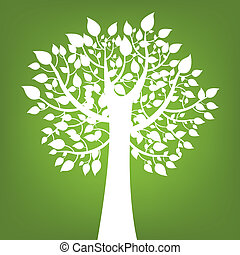 背景, 綠色的樹, 摘要