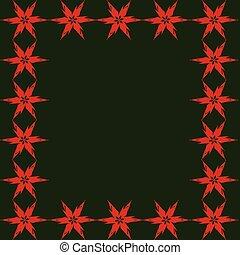 背景, 緑の赤, 星