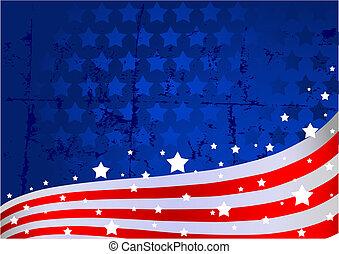 背景, 美国人旗