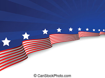 背景, 美國旗