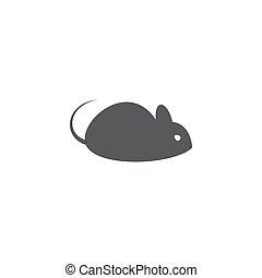 背景, 老鼠, 白色, 图标
