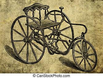 背景, 自転車, グランジ