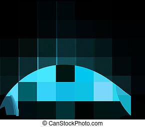 背景, 藍色, 摘要, 雅致