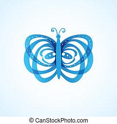 背景, 蝶
