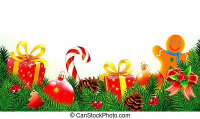 背景, 装飾用である, クリスマス