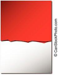 背景, 赤い、白い