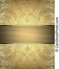 背景, 金, 抽象的, 要素, テンプレート, リボン, design.