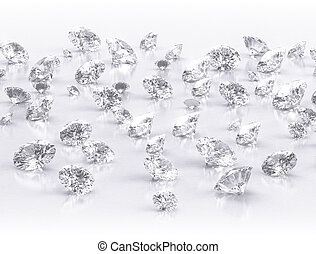 背景, 鑽石, 組, 大, 白色