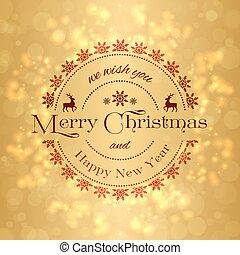 背景, 陽気, 年, 新しい, クリスマス, 幸せ