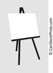 背景, 隔離された, ブランク, 黒板, 白