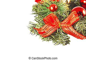背景, 隔離された, 装飾, 装飾, クリスマス, 白, 休日, クリスマス