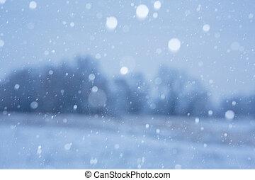 背景, 雪が多い