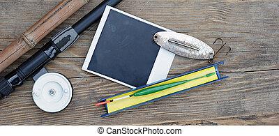 背景, 飛, 照片框架, 木頭, 鞭笞, 釣魚