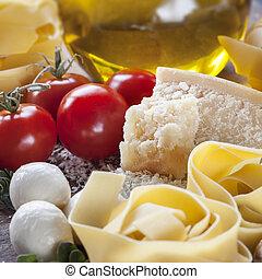 背景, 食物イタリア人