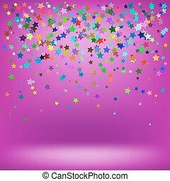 背景, 鮮艷, 粉紅色, 星, 集合, 軟