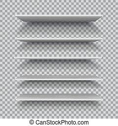 背景, checkered, 空, ベクトル, 白, 隔離された, 棚, プラスチック