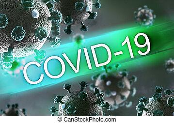 背景, covid-19, pandemic