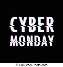 背景, cyber, 月曜日