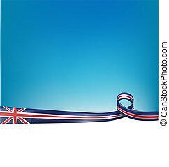 背景, england, 旗