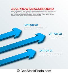 背景, infographic, 矢, 3d