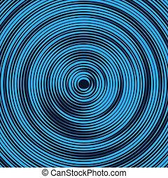 背景, pattern., 青い波, 円, 色