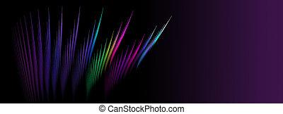 背景。, screensavers., 描述, disco, 设计, rays., 氖, 创造性, 使用, 摘要, fractal, 发光, 多种色彩