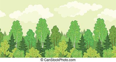 背景, seamless, 森林