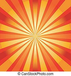 背景, sunburst, 抽象的