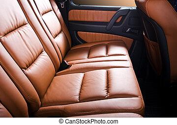 背, 乘客, 座位, 在, 現代, 舒適, 汽車