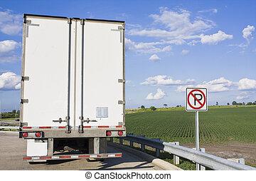 背, 半卡車