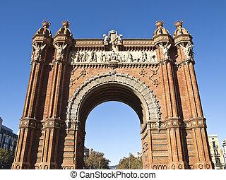 胜利的拱形, 巴塞罗那