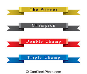 胜利者, 冠軍, 帶子, 集合, 矢量