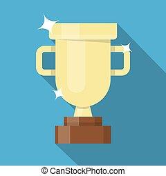 胜利者, 黃金, 杯子