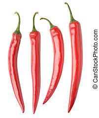 胡椒, 熱的紅辣椒, 彙整, 被隔离