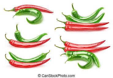 胡椒, 熱, 被隔离, 彙整
