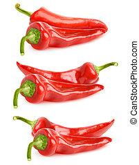 胡椒, 鈴, 被隔离, 彙整, 紅色