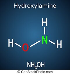 能力, nitric, 化合物, 藍色, hydroxylamine, 有机, 背景, inorganic, 減少, 應付款, molecule., 它, 結構, 黑暗, 綜合, nh2oh, 它, 公式, oxide., 化學制品, 捐贈, 代理, 使用