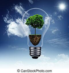 能量, 儲金, 以及, eco, 背景, 為, 你, 設計