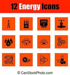 能量, 图标, 放置