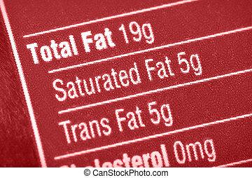 脂肪, 高く