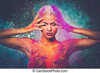 脆弱, 女人身体, 藝術, 生物, 概念性, 人類